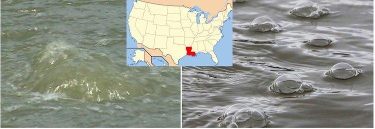 In Louisiana i fiumi ribollono