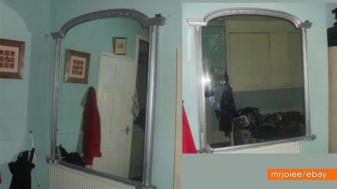 Specchio infestato da fantasmi venduto su Ebay