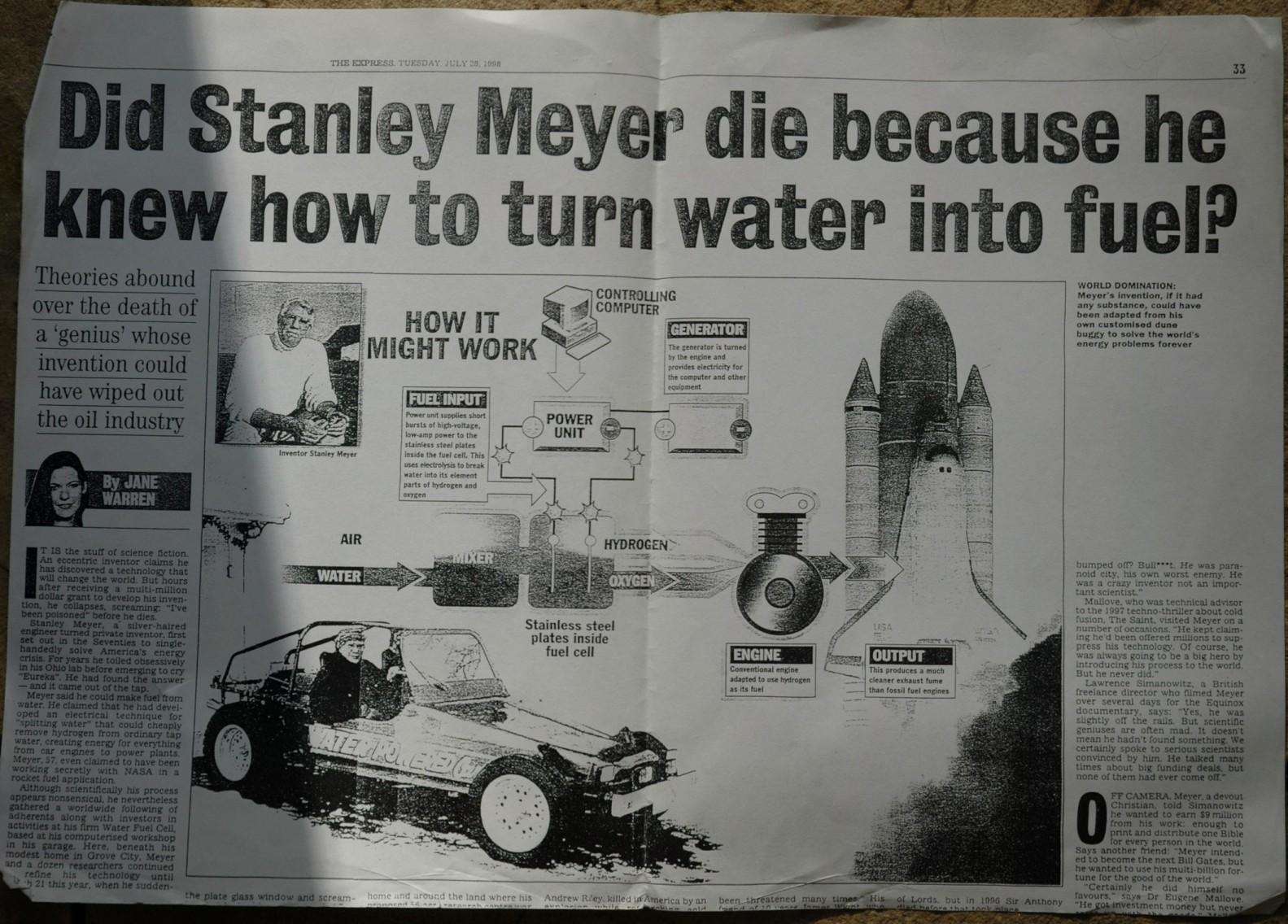 Stan Meyer: l'uomo che ha inventato l'automobile ad acqua