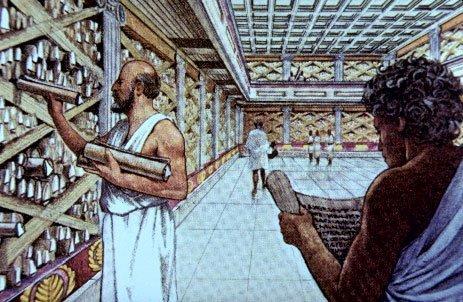 La distruzione della Biblioteca di Alessandria